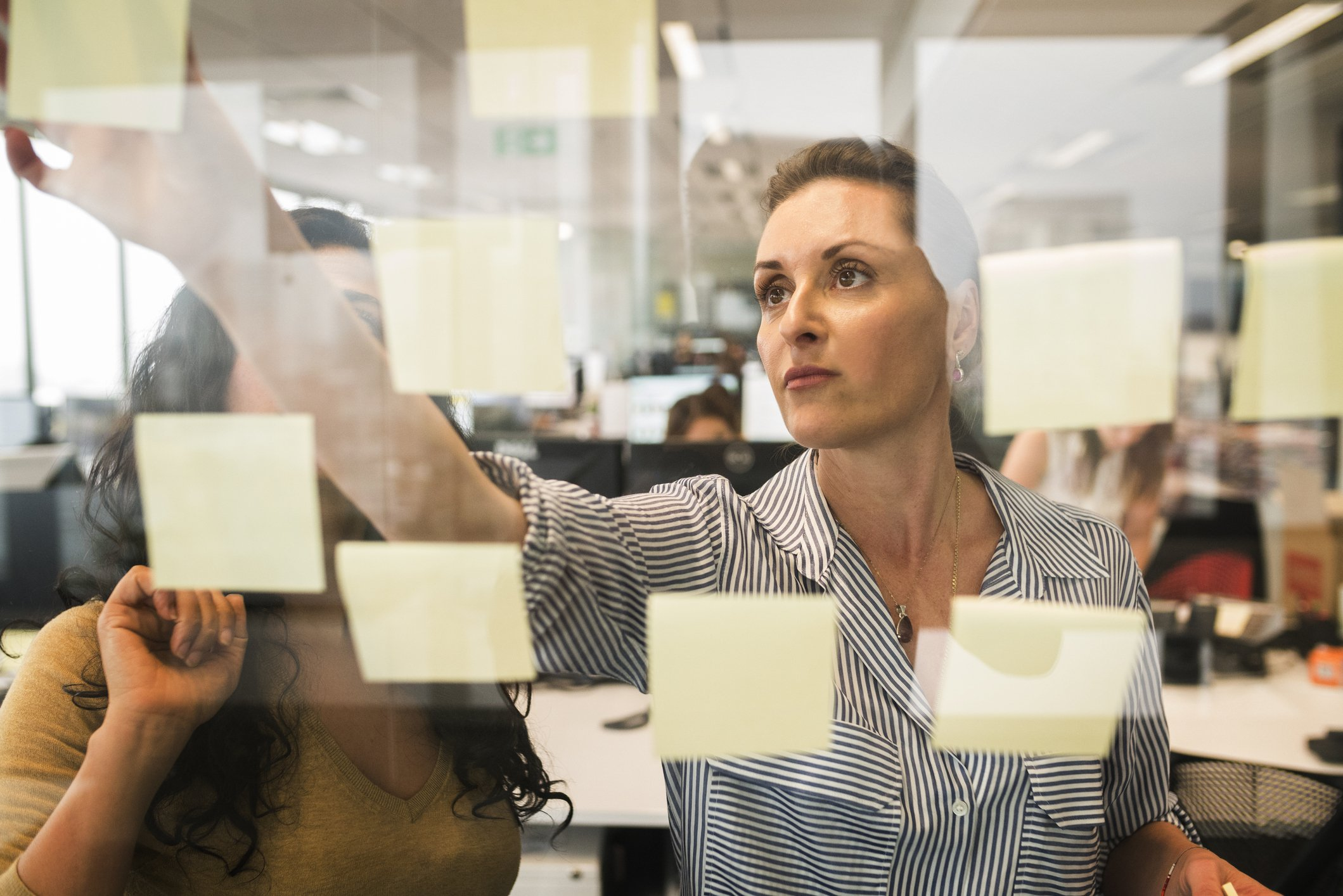 Sales – Lose the sticky notes and get yourself a CRM system.